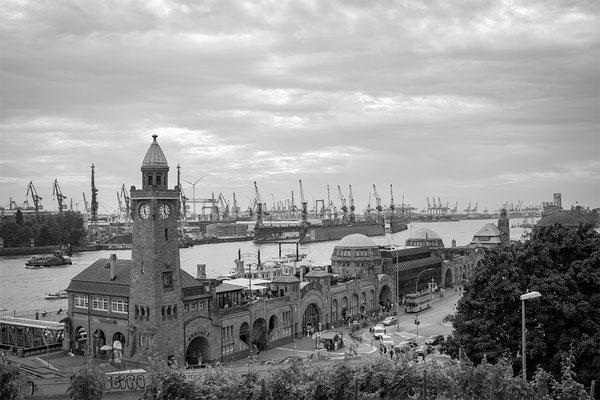 Fischmarkt Hamburger Hafen Landungsbrücken