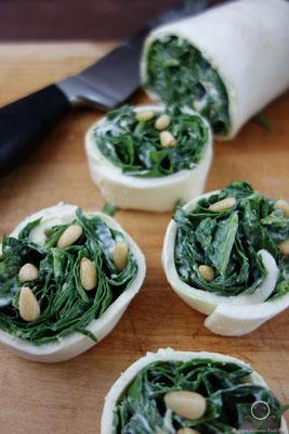 Mozzarella Wrap mit Spinat
