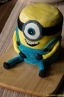 Minion Torte in 3D