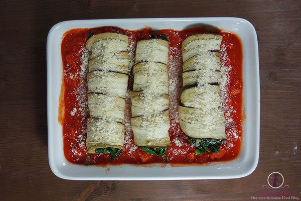 Low Carb Cannelloni mit Auberginen