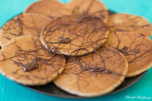 Protein Pfannkuchen mit Zartbitterschokolade