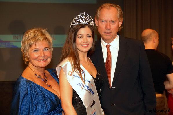 """Renate Moser """"Intersky"""", Alexandra Lüönd und Prof. Dr. Dr. med. habil. Werner L. Mang"""