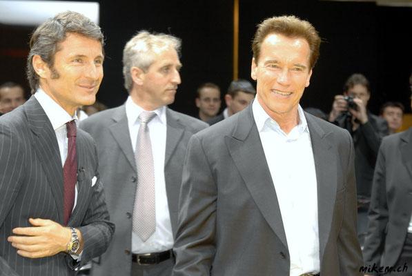 Lamborghini-Chef Stephan Winkelmann & Arnold Schwarzenegger