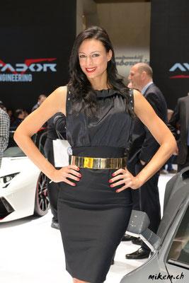 Hostesse bei Lamborghini