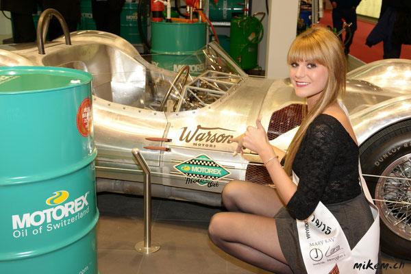 Bei Motorex haben wir sogar unser Kleider Sponsor auf einem Auto gefunden. Warson Motors