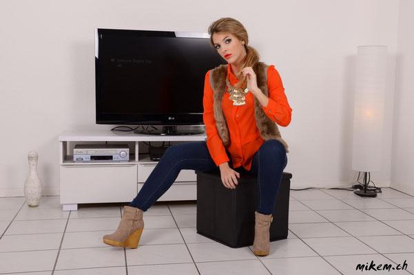 www.vivrepourinspirer.com , Jeans und Hemd mit Gilet
