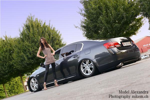 Auto Tuning, Fotoshooting Girl & Car, Lexus GS450