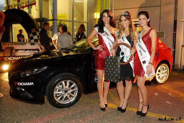 Miss Yokohama 2014/15 Jennifer Kleeb, Dayana Petrucci und Vania De Oliveira