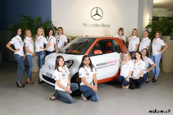 Die Finalistinnen der Miss Auto Zürich 2014