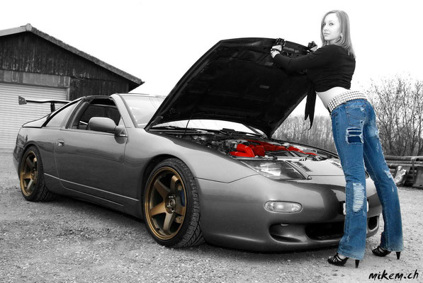 Tuning Car 300zx Nissan, Girl and Car