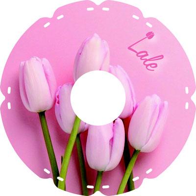1733 Tulpen pink (mit indiv. Namen)