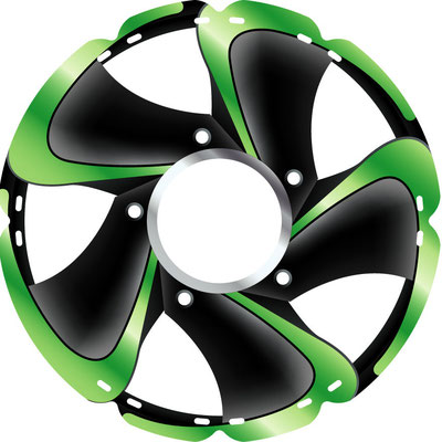 1101 Alu-Felge grün