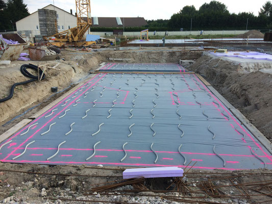 Isolierung Bodenplatte Schnitzelgrube