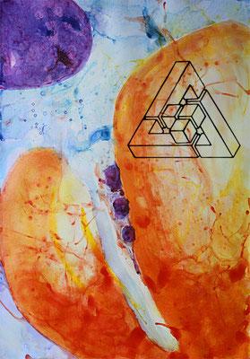 Penrosedreieck mit Würfeln - Angelika Litzkendorf - Unmögliche Figur