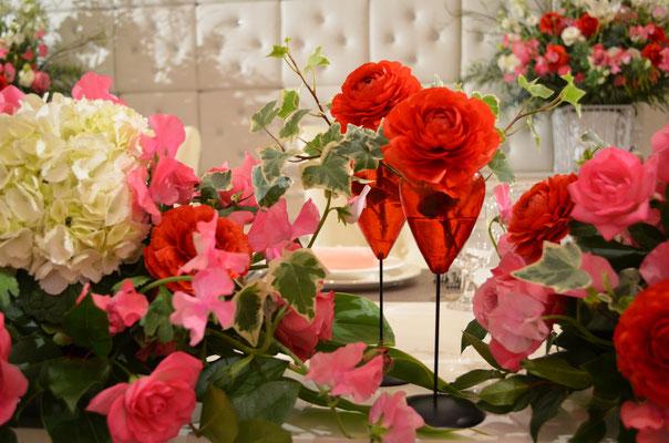 新郎新婦メインテーブル装花