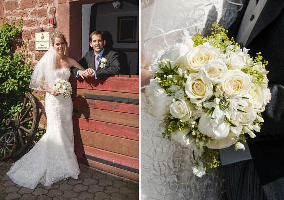 Hochzeitsfotografie in Amorbach/Hotel Schafhof und Wörth am Main/Hofgut von Hünersdorff.