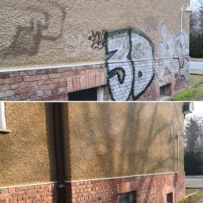 Graffitientfernung Fassade