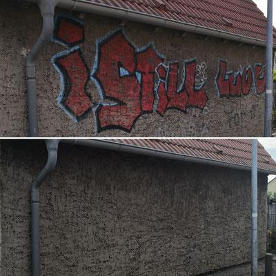 Graffitienfernung Fassade