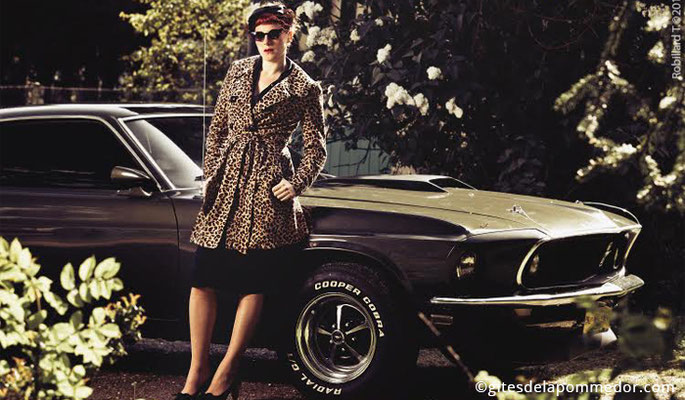 Shooting photo couleur pour elle (vue1), projet photographique avec la Mustang en Normandie
