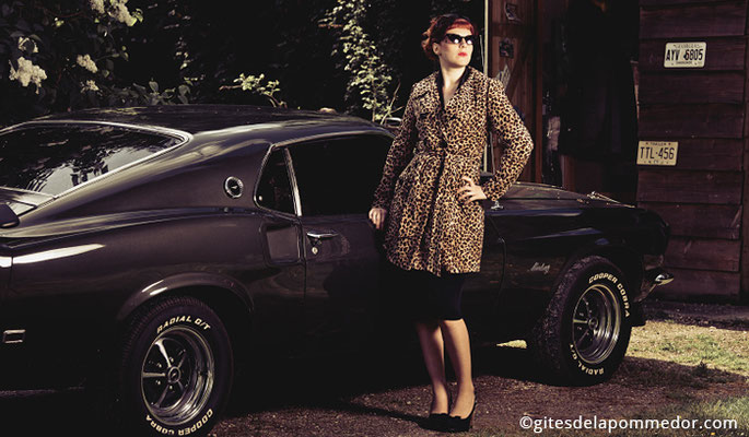 Shooting photo couleur pour elle (vue2), projet photographique avec la Mustang en Normandie