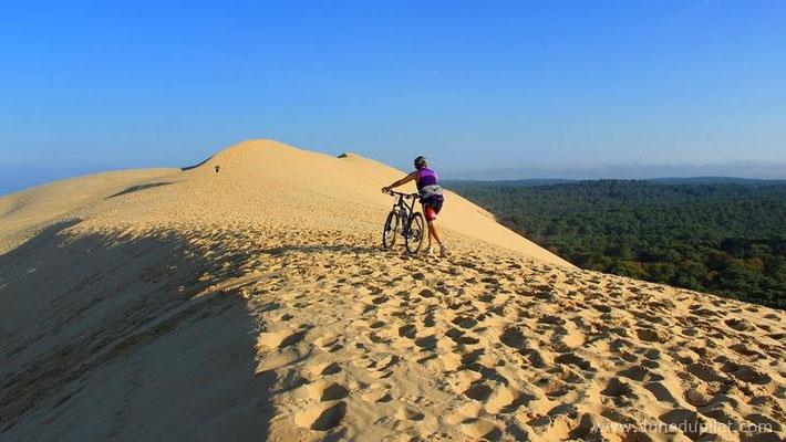 Comment monter la dune à vélo ?