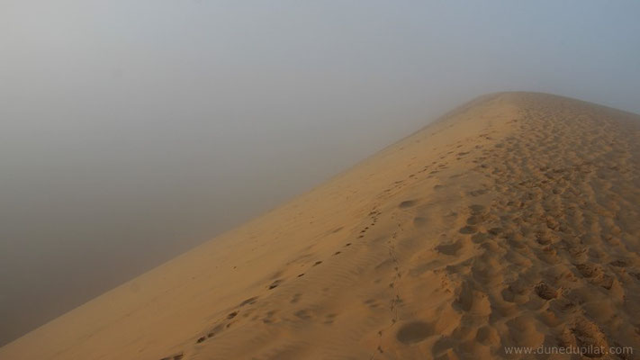 Le sable commence à se dorer à la lumière du soleil