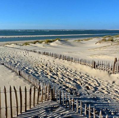 Quelques kilomètres au sud de la Dune du Pilat (plage de la Lagune)