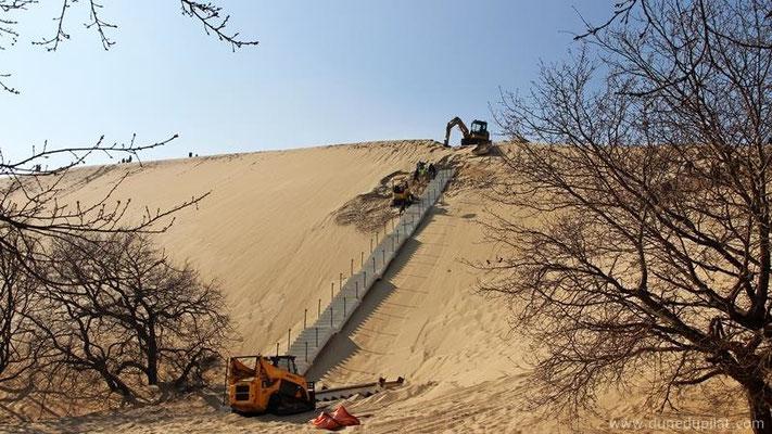 Mise en place de l'escalier en mars 2016