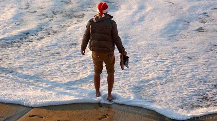 Le Père Noël à la dune !