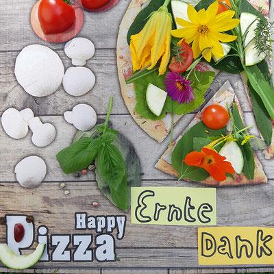 Brittas Ernte Dank Pizza