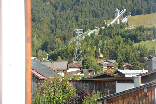 Ferienhaus in Oberstdorf, Ferienhaus Sehrwind – Aussicht Dachgeschoß