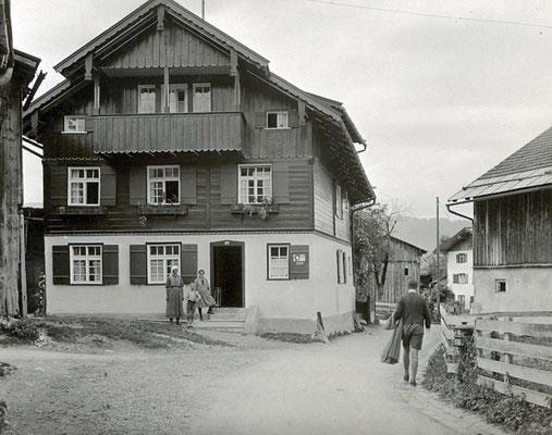 Ferienhaus in Oberstdorf, Ferienhaus Sehrwind – Ansicht des Hauses von 1930
