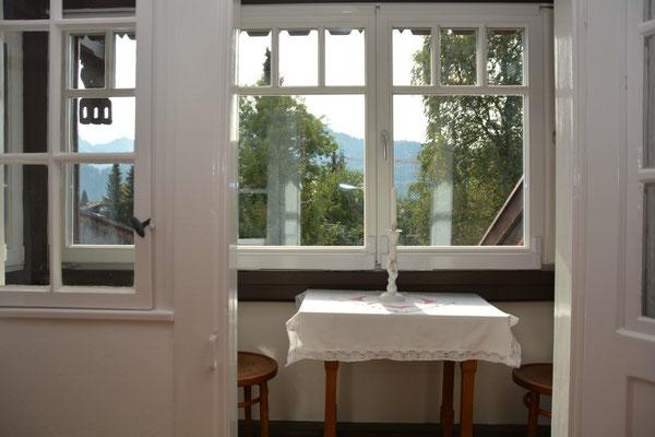 Ferienhaus in Oberstdorf, Ferienhaus Sehrwind – verglaster Balkon