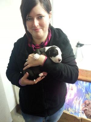 Die erste Begegnung mit der kleinen Ida. Sie hat unser Herz sofort im Sturm erobert.