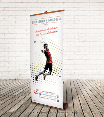 Roll-Up - Section Badminton de CHAMPIGNY le SEC