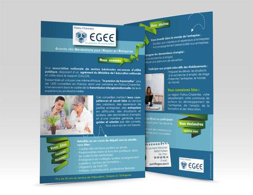 Flyer - Association EGEE (Entente des Générations pour l'Emploi et l'Entreprise)