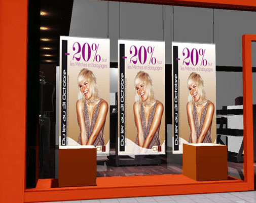 Kakémono coiffure pour COMUNICA - Agence de communication - Nantes
