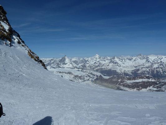 Panorama ab dem Silbersattel (4'515m)