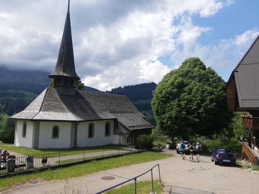 Die wunderschöne Kirchenanlage in Schangnau