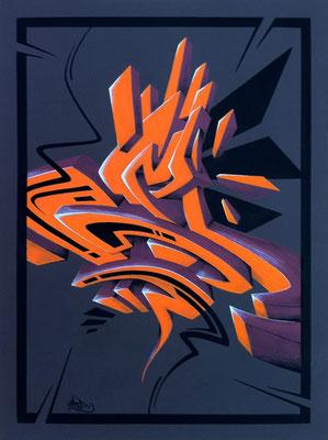 Orange block. 60×80. 2011