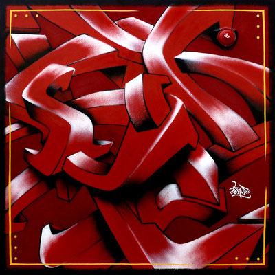 3D & aérosol. 100×100. 2010