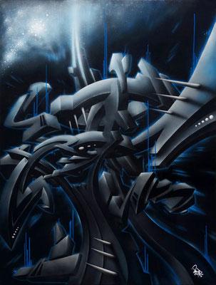 Dark matter, la matière noire. 97×130. 2014