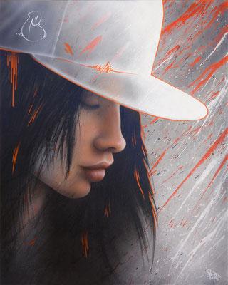 White cap. 65×81. 2014