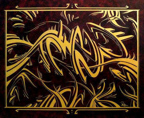 Golden flux. 73×60. 2013