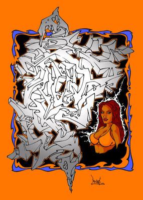 3D & woman. 2007