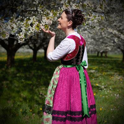 Kirschenkönigin Fränkische Tracht Damentracht Rosalie Postatny