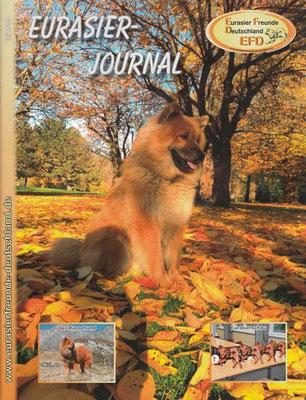 Bandor ziert das Titelblatt des EFD Eurasier Magazins (Dez. 2015)