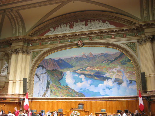 Historisches Gemälde im Nationalratssaal