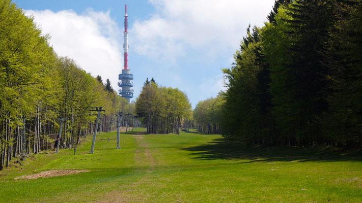 Auf zur Besteigung des Kekestetö, er ist mit 1014m der höchste Berg Ungarns