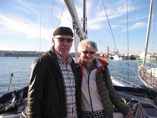 Unser Besuch auf der Segeljacht
